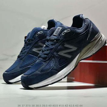NB New Balance new trend men and women retro running shoes sneakers blue