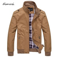 Mens Jackets Spring Autumn Casual Coats Solid Color Mens Sportswear Stand Collar Slim Jackets Male Bomber Jackets 4XL