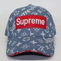 Perfect  Louis Vuitton X Supreme  Fashion Casual Hat Cap