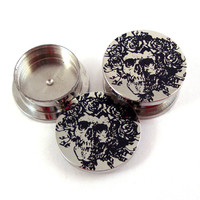 """Skeleton Stash Plugs - Surgical Steel - 0g (8 mm) 00g (10mm) 7/16"""" (11 mm) 9/16"""" (14mm) 5/8"""" (16mm) - Threaded Container Gauges"""