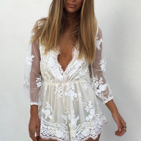 Buy Sequin Mae Playsuit Online by SABO SKIRT