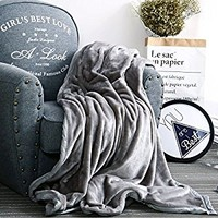 Qbedding Microplush Fleece Blanket, Flannel Microfiber All Season Blanket for Bed or Sofa/couch (Gray, Throw 50x60)