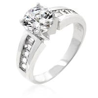 Antoinette Engagement Silver Ring, size : 09