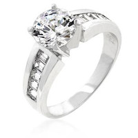 Antoinette Engagement Silver Ring, size : 10