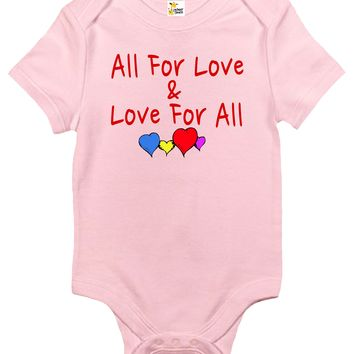 Baby Bodysuit - All For Love and Love For All