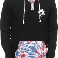 Empyre High Life Tie Dye Hooded Henley Shirt