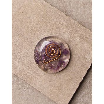 Amethyst Orgone Disc - As-Is-Clearance