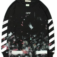 OFF WHITE Round-neck Winter Hoodies [11501027532]