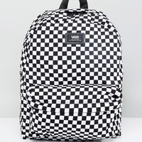 Vans Old Skool II Backpack In Checkerboard VONIHU0 at asos.com
