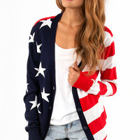 Lady Liberty Cardigan $46