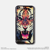 Colorful tiger face iPhone 6 6Plus case iPhone 5s case iPhone 5C case iPhone 4 4S case Samsung galaxy Note 2 Note 3 Note 4 S3 S4 S5 case 244
