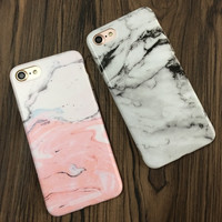 Fashion Marble Stone Rock Case For iPhone 7 6 6S Plus Colorful Soft Cover For iPhone 6 7 6S 5 Fundas Capa