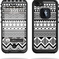 Mightyskins Protective Vinyl Skin Decal Cover for LifeProof iPhone 5/5s/SE Case fre Case wrap sticker skins Black Aztec