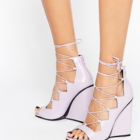 ASOS HOMEGIRL Lace Up Wedges at asos.com