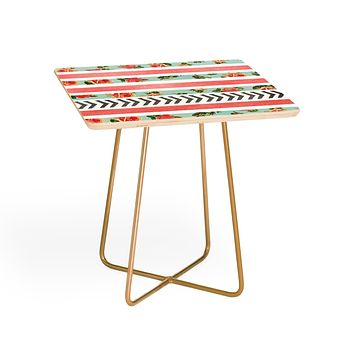 Allyson Johnson Floral Stripes And Arrows Side Table