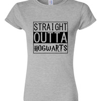 Straight Outta Hogwarts T-Shirt Potter Fan Hogwarts Fun T-shirt Wizard Harry Fan Shirt
