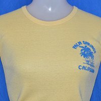70s Palm Springs California Rib Knit t-shirt Women's Extra-Small