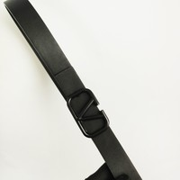 Valentino classic fashion letter clasp with hip hop black belt