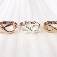 Forever Love Infinity Ring - Gold, Silver and Rose Gold
