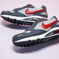"""Nike Air Max DIRECT Retro Running Shoes """"Gray&Red"""" 579923-060"""