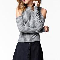 Kendall & Kylie Long Sleeve Ribbed Cold Shoulder Top at PacSun.com
