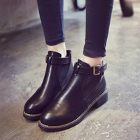 On Sale Hot Deal Autumn With Heel Shoes Vintage Hollow Out Boots [7993612673]