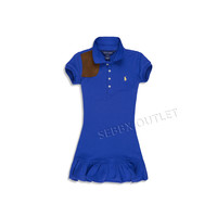 Ralph Lauren Dress Short Sleeve Polo Dress Blue