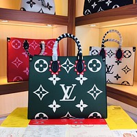 LV Louis Vuitton LV CRAFTY ONTHEGO OnTheGo M45373 ï¼?5372 Women's Tote Bag Handbag Shopping Leather Tote Crossbody Satchel 41.0 x 34.0 x 19.0 cm