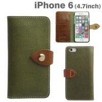 Strapya World : Brushup Standard Tochigi Leather Diary Type Case for iPhone 6 (Green)