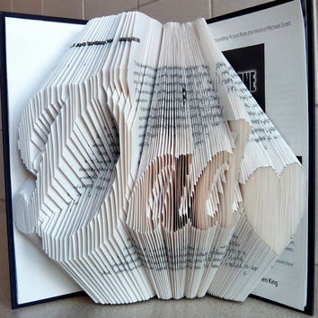 Folded Book Art - DAD - Unique Present - Book Lover - Home Decor - Presents for Fathers - Handmade - Unique Gift - Folded Book Sculpture