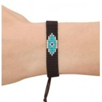 Kim & Zozi Native Eye Bracelet in Black