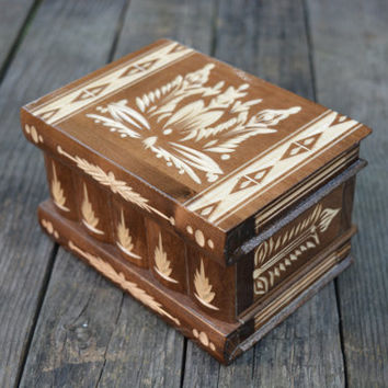 Personalized secret opening trinket box puzzle box brain teaser trick box wooden jewelry box money bank candy box Mechanical puzzles funny