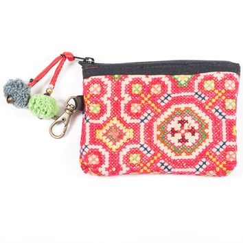 Vintage Hmong Hill Tribe Coin Purse (Thailand) - Style 7