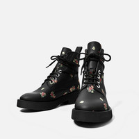 PRINTED LEATHER ANKLE BOOTS - NEW IN-TRF | ZARA United Kingdom