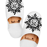 Sequin Moroccan Leather Slippers