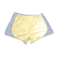 Yellow Jersey with Navy Seersucker Shorts by Lily Grace