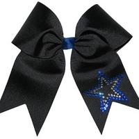 Custom Texas Size, Standard Size, Youth Size, and Pig Tail Hair Bows for Cheer / Dance by POWERBows 7483
