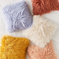 Mila Faux Fur Throw Pillow | Urban Outfitters