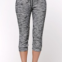 LA Hearts Slub Knit Jogger Pants - Womens Pants - Black