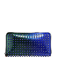 Christian Louboutin - Panettone Studded Metallic Ombre Continental Wallet - Saks Fifth Avenue Mobile