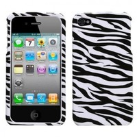 MYBAT IPHONE4HPCIM056NP Slim and Stylish Protective Case for iPhone 4 - 1 Pack - Retail Packaging - Zebra Skin