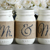 Rustic Bridal Shower Table Decor, Rustic Engagement Gift