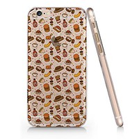 Food Pattern Clear Transparent Plastic Phone Case for iphone 6 6s _ SUPERTRAMPshop