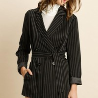 Pin Stripe Double Breasted Jacket