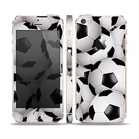 The Soccer Ball Overlay Skin Set for the Apple iPhone 5s
