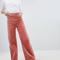Weekday Cord Wide Leg Pants at asos.com