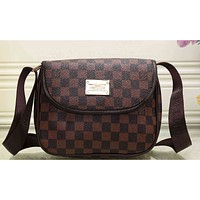 LV Women Fashion Shopping Bag Leather Satchel Shoulder Bag Crossbody