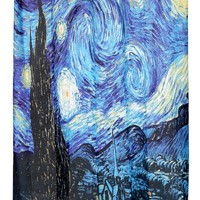 """The Starry Night"" Fabric Shower Curtain"