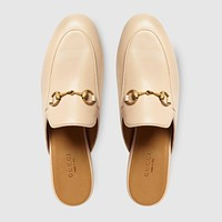 GUCCI Women's Princetown leather slipper