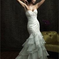 Seductive Strapless Sweetheart Neckline Highlight The Curve Glamour Mermaid Wedding Dress WD1626